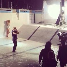 Justin making a new music video with what looks like the same girl from ATM and Confident , Cailin Russo, (April 5th)