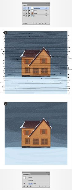 Create a Winter House Illustration in Adobe Illustrator