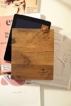 Die iPad-Hülle: Früher war ich mal Parkett - HANDMADE Kultur Ikea, Recycling, Woody, Flask, Upcycle, Workshop, Lettering, Diy, Zero Waste