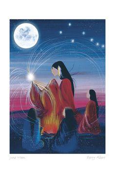 Native American Artwork, Native American Symbols, Native American Artists, Canadian Artists, Spirited Art, Inca, Indigenous Art, Native Art, Moon Art