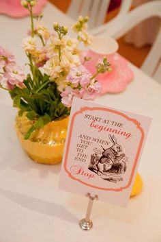 Alice in Wonderland - Mad Hatters Tea Party Birthday Party Ideas | Photo 1 of 22 | Catch My Party