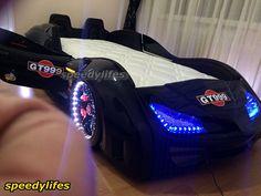 Siyah GT999 Kapıları Açılır Deri Döşemeli Araba Yatak - Lüx Araba Yatak - Araba Karyola