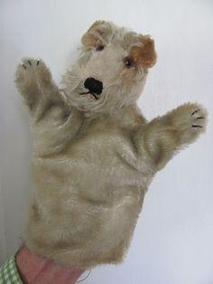 Vintage Fox Terrier Hand Puppet by Steiff