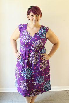 purple washi dress with full bust adjustment Washi Dress, Diy Dress, Sundresses Women, House Dress, Sewing Clothes, Cotton Dresses, Diy Fashion, Dress Patterns, Dress Making