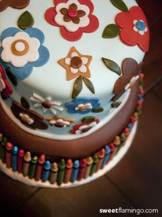 Crayons & Color: A Happy 1st Birthday! | Sweet Flamingo Cake Co.  www.sweetflamingo.com