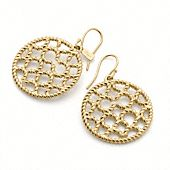 MIRANDA ROPE OP ART DISC EARRINGS