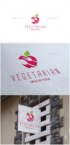 Vegetarian Logo - Food Logo Templates