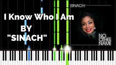 SINACH - I KNOW WHO I AM | Lyrics | Synthesia Piano Tutorial