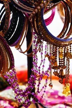 Colorful Indian Jewelry.