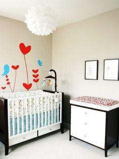 imagem de quarto simples e bonito para bebês