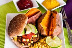 """Need dinner fast? Don't have much in the house? Here is my lazy Friday dinner meal--quickie black bean burgers. I sometimes call these """"hotel room burgers"""" because I originally developed them in a hotel room while on vacation!"""