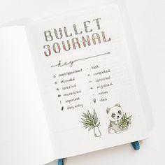 Yu's Key for her Bullet Journal