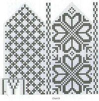 "Вязание. Варежки с жаккардом - ""Зимняя радуга"" | VK Intarsia Patterns, Fair Isle Knitting Patterns, Knitting Paterns, Bead Loom Patterns, Knitting Charts, Weaving Patterns, Knitted Mittens Pattern, Knitted Slippers, Knit Mittens"
