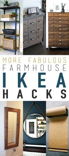 More Fabulous Farmhouse IKEA Hacks that you are going to love! - Ikea DIY - The best IKEA hacks all in one place Ikea Hacks, Diy Hacks, Ikea Hack Desk, Home Decor Hacks, Diy Home Decor, Diy Décoration, Diy Crafts, Decorating Tips, Interior Decorating