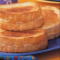Cream Cheese Grilled Cheese. Kids would love these!