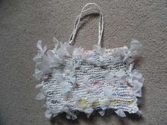 How to knit a bag out of plastic bags!