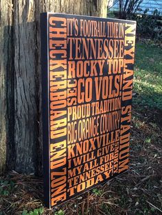 Hey, I found this really awesome Etsy listing at https://www.etsy.com/listing/165542514/wooden-tennessee-vols-sign