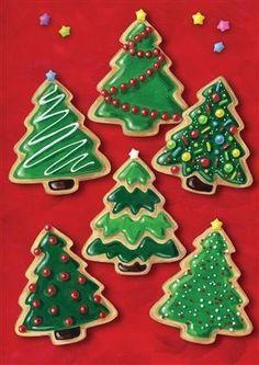 Christmas Cookies House Flag christmas cookies Minimalist Christmas Tree Sugar Cookies by GingerSnapMarket Christmas Tree Cookies, Christmas Sweets, Christmas Cooking, Noel Christmas, Christmas Goodies, Holiday Cookies, Iced Cookies, Easy Christmas Cookies Decorating, Baking Cookies