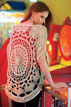 Ravelry: Wonder Wheel Top pattern by Jenny King   Interweave Crochet, Summer 2014 #crochet #sweater #lace