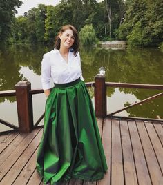 Maxi dress for wedding party. DIY maxi green skirt for wedding party!