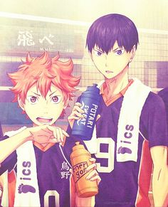Hinata Kageyama | Haikyuu!! #manga Did anyone else point out the flag behind them 'fly'