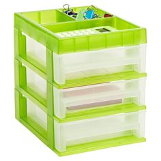 The Container Store Shop Storage, Storage Bins, Craft Storage, Storage Containers, Storage Solutions, Storage Ideas, Small Space Organization, Desktop Organization, Paper Craft Supplies