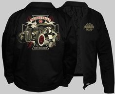 King Kerosin Hot Rod Freak Lined Work Jacket