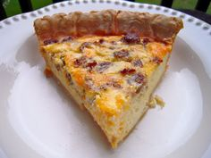 Three Cheese Sausage Quiche - made with Greek yogurt - freeze unbaked quiche for a quick breakfast/brunch. Perfect for the holidays!
