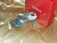 GUESS SHOES, GEARY PLATFORM SANDALS BRONZE SNAKE COMBO 8M - GWGEARY #GUESS #PlatformsWedges