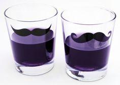 Moustache Shot Glasses