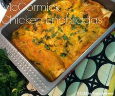 Quick & Easy Chicken Enchiladas. My family loved these. @Erin McCormick Spice #chicken #enchiladas