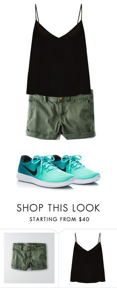 """""""Thursday 4/20"""" by wdwswimmer on Polyvore featuring American Eagle Outfitters, Raey and NIKE"""