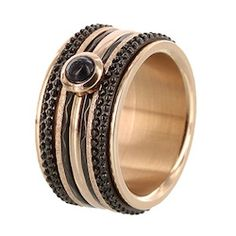 iXXXi ring rose black caviar Caviar, Bling Bling, Jewerly, Rings For Men, Fashion Jewelry, Bracelet, Watches, Pearls, Beautiful