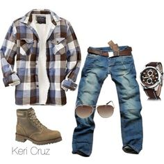 Mhhmmm... Rugged fall style. This says fall has come! Rugged, created by keri-cruz on Polyvore
