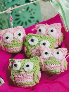 Búhos colgantes - Accesorios Crochet