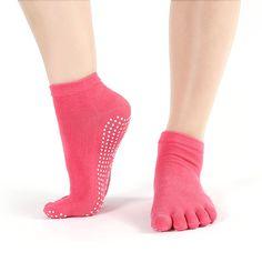 Cotton Colorful Yoga Gym Non Slip Toe Socks    https://zenyogahub.com/collections/yoga-socks/products/cotton-colorful-yoga-gym-non-slip-toe-socks