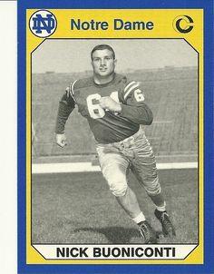 Nick Buoniconti 1990 Notre Dame Fighting Irish Collegiate Collection # 112 Football Card