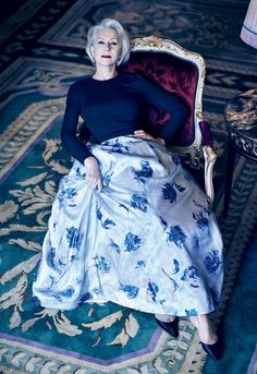 "Why is Helen Mirren so FABULOUS! mirnah: "" Helen Mirren by Mikael Jansson for Vogue US March 2013 "" "" Glamour, Grey Hair Styles For Women, Dame Helen, Foto Fashion, Timeless Fashion, Fashion Fashion, Fashion Models, Fashion Outfits, Vogue Us"