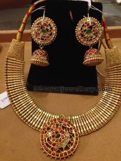 Indian Gold Jewelry Near Me Product Gold Earrings Designs, Gold Jewellery Design, Gold Jewelry, Gold Designs, Statement Jewelry, Jewelry Shop, Antique Necklace, Antique Jewelry, Antique Gold