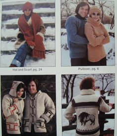 His or Hers Sweater Knitting Pattern/ Buffalo, Thunderbird/ Sizes: S 32-34, M 36-38, L 40-42/ Graph Fair Isle/ Jackets Hat Scarf by RedWickerBasket on Etsy