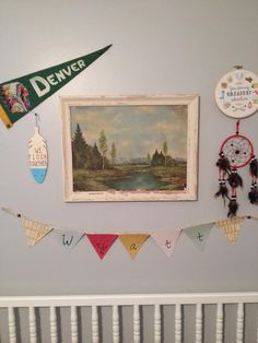 Project Nursery - Vintage Camp Nursery Wall Art