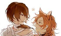Source: ryethe (tumblr) Dazai and his cat