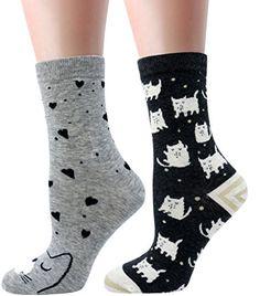 LITTONE Women's Cozy Cotton Cartoon Crew Novelty Socks 2 Pairs Funny Socks, Novelty Socks, Cotton Socks, Crew Socks, Cozy, Pairs, Casual, Pattern, Stuff To Buy