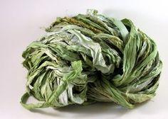 Mojito Recycled Sari Silk Ribbon