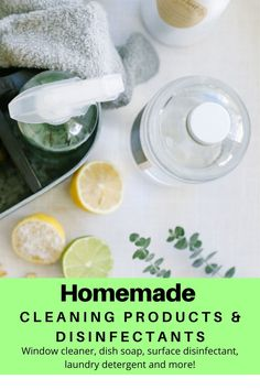 Make homemade cleaning products like multi-surface cleaner, windex, dish soap, laundry detergent and more! With cheap natural ingredients. Natural Hair Treatments, Body Treatments, Natural Remedies, Homemade Cleaning Products, Cleaning Hacks, Organizing Tips, Cleaning Solutions, Natural Make Up, Natural Skin Care