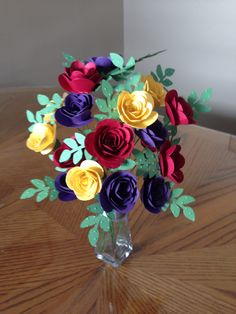 Absolutely love the spiral flower die from STAMPIN' UP!  ~Just an illustration of how pretty these flowers look!~deb~
