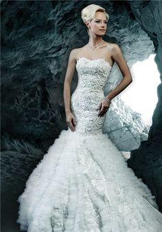 Bridal Gown Inspiration a board by www.myfauxdiamond.com #myfauxdiamond #weddings #jewelry  Ysa Makino KYM11