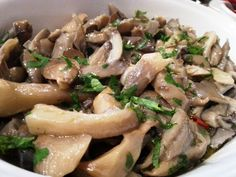 Setas de cardo al ajillo – Cardoncelli trifolati Italian food, italian recipes, cocina italiana, comida italiana