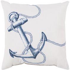 Blue Anchor Outdoor Pillow