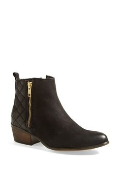 Cute casual flat black booties - Steve Madden 'Nyrvana' Boot (Women) | Nordstrom